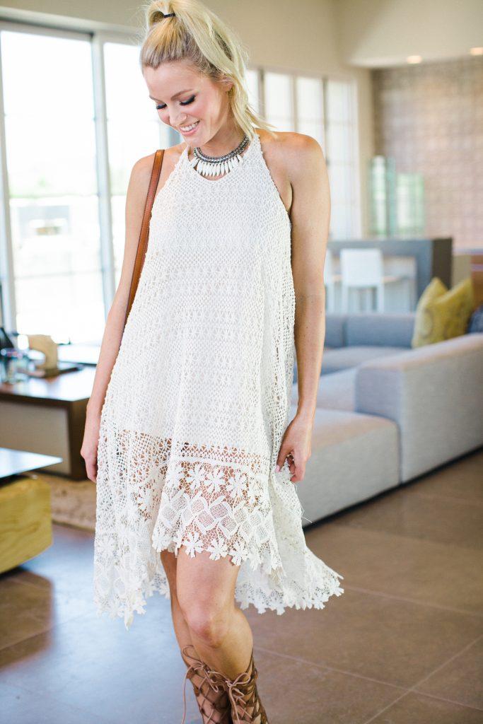 5abd00edb7fd1 H&M Crochet Dress - The Bubbly Blonde